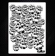 SKULL BACKGROUND 15 airbrush stencil template motorcycle paint