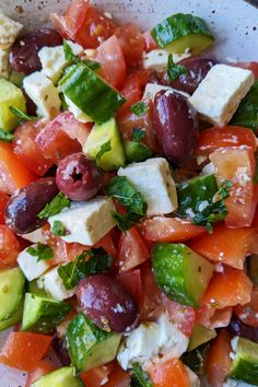 Healthy Salads, Healthy Eating, Healthy Recipes, Healthy Detox, Party Side Dishes, Greek Salad Recipes, Greek Dishes, Lunches And Dinners, Clean Eating