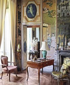 """Résultat de recherche d'images pour """"18th century interiors 1820-lieven goossens"""" Chateau Hotel, World Decor, Design Salon, Villa, Classic Living Room, Antique Interior, Interior Decorating, Interior Design, Classic Interior"""