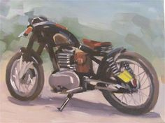 "Daily Paintworks - ""moto racer"" - Original Fine Art for Sale - © gilles Poulizac"
