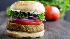 Falafel Burger - Have you ever had a veggie burger that falls apart while you're cooking it or when you take the first bite? Not anymore! Falafel Burger.