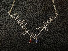 2 name necklace with birthstones Personalized by JavaJaneJewelry, $25.00