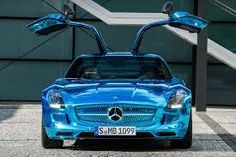 Mercedes- Benz SLS AMG Coupe Electric Drive Blue- Electric Revolution
