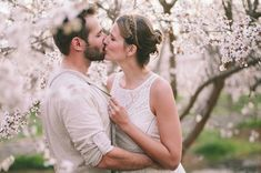 Almond Orchard Engagement Photos: Genevieve + Mike | Green Wedding Shoes Wedding Blog | Wedding Trends for Stylish + Creative Brides