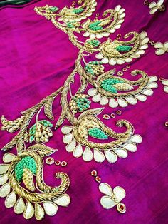 Kids Blouse Designs, Blouse Neck Designs, Hand Designs, Zardosi Work Design, Maggam Work Designs, Mirror Work Blouse Design, Wedding Saree Blouse Designs, Jewelry Design Drawing, Maggam Works
