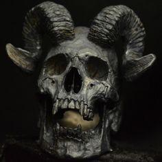 Horned Beast • .925 Sterling Silver • Skull Ring •