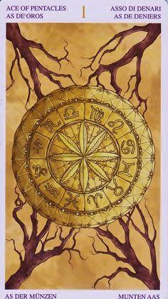 Ace of Pentacles Die Bilder aus dem Universal Wirth Tarot / I Tarocchi… Wicca, Magick, Ace Of Pentacles, Cosmos, Photo D Art, Tarot Card Decks, Wheel Of Fortune, Major Arcana, Oracle Cards