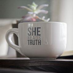 Image of She Reads Truth 16oz Mug via SheReadsTruth.com $18