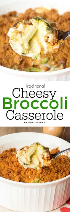 Traditional Cheesy Broccoli Casserole by Noshing With The Nolands isn't just for the holidays. Enjoy this scrumptious side dish all year long!