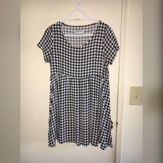 American Apparel printed rayon Babydoll dress Black and white rayon printed babydoll dress in great condition American Apparel Dresses
