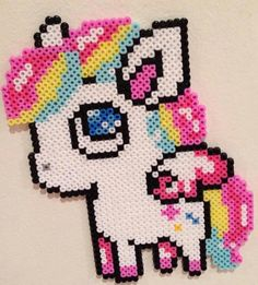 My Little Pony Perler Hama Melty Fuse Beads Perler Bead Designs, Hama Beads Design, Diy Perler Beads, Perler Bead Art, Pearler Beads, Hama Beads Kawaii, Melty Bead Patterns, Pearler Bead Patterns, Perler Patterns
