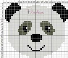 Panda - schema punto croce - cross Stitch - Kreuzstich - Punto de Cruz