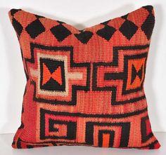 vintage 16x16 red stripes antique kilim pillow cover door decori
