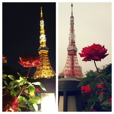 night and day . #tokyotower