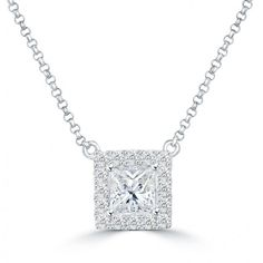 square item cut princess diamon jewelry diamond pendant