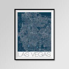 Las Vegas Map Print - Minimalist City Map Art of Las Vegas Poster - Wall Art Gift - COLORS - white, blue, red, yellow, violet Las Vegas map, Las Vegas print, Las Vegas poster, Las Vegas map art, Las Vegas gift  More styles - Las Vegas - maps on the link below https://www.etsy.com/shop/PFposters?search_query=Las+Vegas