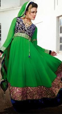 Alluring Green Chudidar Kameez
