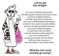 Maxine sums it up.