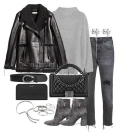 """""""Untitled #3047"""" by theeuropeancloset ❤ liked on Polyvore featuring RE/DONE, Steve Madden, Vince, Chanel, Gucci, Yves Saint Laurent, Kendra Scott and Monica Vinader"""