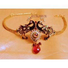 peacock bajuband - Online Shopping for Bracelets n Bangles by Runjhun Designer Jewellery