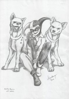 Harley Quinn with her babies by *Solkatt on deviantART