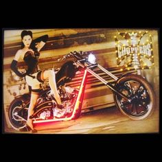 "Neon Art: West Coast Choppers Girl Neon and LED Light Picture by Brookstone. $149.99. Features vivid LED bulbs and hand blown neon lights.. A truly original piece of wall art.. Comes fully assembled, AC adapter is included.. Color: Multi. Size: 24""H x 36""W x 1""D. Neon Art: West Coast Choppers Girl Neon and LED Light Picture. Focused on bringing the fun and beauty of real neon into your home or business! This West Coast Choppers Girl Neon/LED Picture gives a colorful edge wi..."