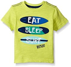 Gymboree Toddler Boys Lime Eat Sleep Surf Tee Monterey Bay 5T >>> Details can be found by clicking on the image.Note:It is affiliate link to Amazon.