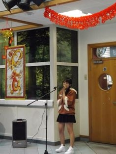 One of our International students singing