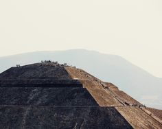 thomasprior:  pyramid of the sun, teotihuacan, mexico (ive been on top of this pyramid numerous times, too amazing)