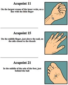 Acupressure for stress reduction