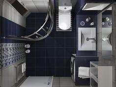 Σχέδια μπάνιου - Κάτοψη χώρου Bathroom Toilets, Tiny House, Bathtub, Mirror, Architecture, Corfu, Furniture, Small Bathrooms, Home Decor
