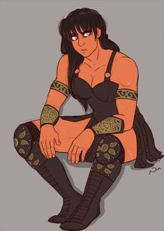 pickupmypencil: sketchin' some Xena because i love the way she sits Female Character Design, Character Design Inspiration, Comic Character, Character Concept, Character Ideas, Dnd Characters, Fantasy Characters, Female Characters, Fictional Characters