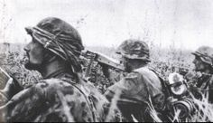 Soldiers of a Waffen-SS machine gun squad during Operation Citadel - The battle of Kursk