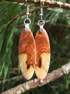 Petite Killer Amboyna Wood Earrings Of A by forestlifecreations, $39.95