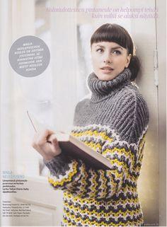 Kotiliesi 3/2015. Maila-sweater by Pia Heilä for Toika Oy.