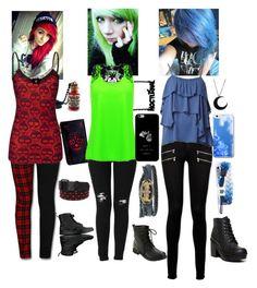 """""""Dyed Hair Contest Submission"""" by xxbeautifuldiasasterxx ❤ liked on Polyvore featuring Dr. Martens, Hudson Jeans, Rastaclat, Paige Denim and Hunter"""
