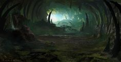 cave 3, HeeWann Kim on ArtStation at https://www.artstation.com/artwork/YaYwd