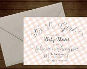 Printable Girl Glitter Baby Shower Invitation-Print Yourself-Digital Invite