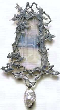 """artnouveaustyle: """"Various winter landscape pendants made by René Lalique, late 1800′s-early 1900′s (found through pinterest/other sources). """" still one of my favorite posts!"""