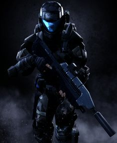 A UNSC soldier in state of the art Kevlar soft body armor consisting a multi-layer plating, same material used for the SPARTAN armor. This armor covers the soldier nearly of his body, but still. Halo 3 Odst, Armor Concept, Concept Art, Character Concept, Halo Spartan, Halo Armor, Halo Master Chief, Halo Series, Halo Collection
