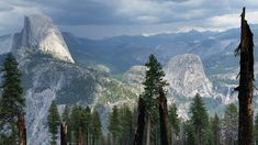 2560x1440 A cloudy day over Yosemite. #nature and Science