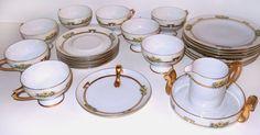 Antique Hutschenreuther Porcelain Teacup Saucer Plate Dish Selb Bavaria SET 23 #Hutschenreuther