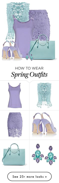 """Aqua & Purple"" by signaturenails-dstanley on Polyvore featuring Chicwish, maurices, Blugirl Folies, Sergio Rossi, Balenciaga and Swarovski"