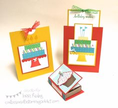 Tutorials Confessions of a Stamping Addict Lorri Heiling Build a Birthday Sprinkles of Life Stampin' Up