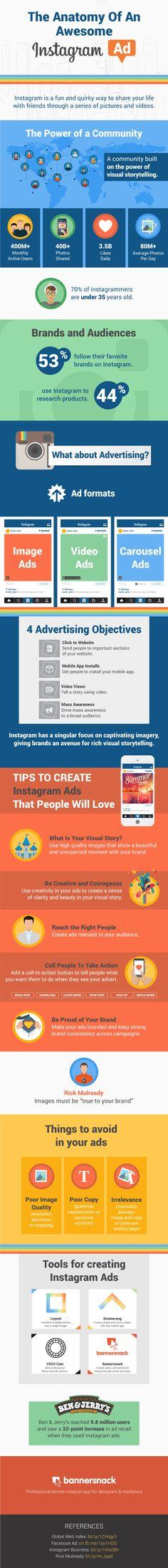Cómo debe ser el anuncio perfecto en Instagram [Infografía]