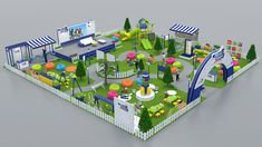 Axa Mandiri Cerdas Indonesiaku 2015 on Behance Kindergarten Design, Playground Design, Exhibition Booth Design, Paper Crafts, Diy Crafts, Kids Church, Stand Design, Craft Work, Paper Flowers