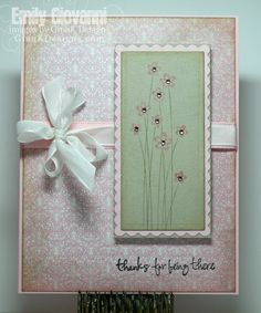 Thank you card created by Emily Giovanni using Gina K Designs products