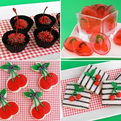 Yummy cherry dessert recipes - cookies, lollipops, chocolate cherries, and more!