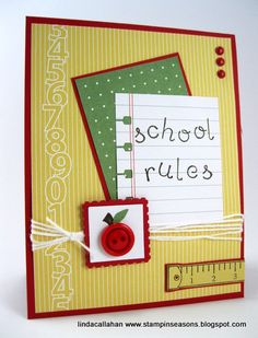 Button Buddies - School Rules! by abbysmom2198 - Cards and Paper Crafts at Splitcoaststampers