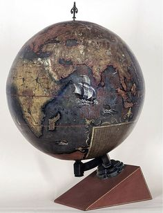 The Chinese Globe which was made for the Chinese Emperor in 1623. The creators exaggerated...